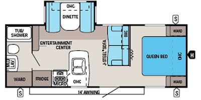 Find Specs for 2014 Jayco - Jay Flight <br>Floorplan: 24 FBS (Travel Trailer)
