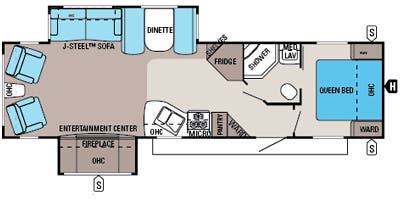 Find Specs for 2014 Jayco - Jay Flight <br>Floorplan: 32 RLDS (Travel Trailer)