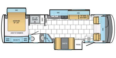 Find Specs for 2014 Newmar - Bay Star <br>Floorplan: 3215 (Class A)
