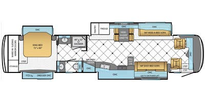 Find Specs for 2014 Newmar - Dutch Star <br>Floorplan: 4360 (Class A)