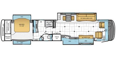 Find Specs for 2014 Newmar - Essex <br>Floorplan: 4552 (Class A)
