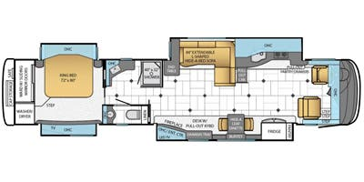 Find Specs for 2014 Newmar - Essex <br>Floorplan: 4557 (Class A)
