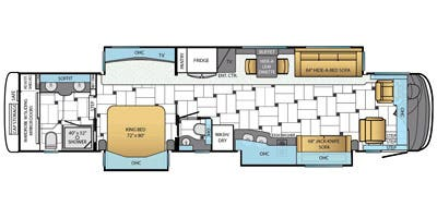 Find Specs for 2014 Newmar - King Aire <br>Floorplan: 4584 (Class A)