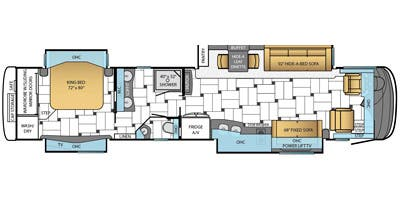Find Specs for 2014 Newmar - King Aire <br>Floorplan: 4592 (Class A)