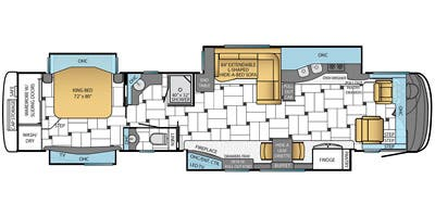 Find Specs for 2014 Newmar - King Aire <br>Floorplan: 4597 (Class A)