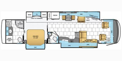 Find Specs for 2014 Newmar - Mountain Aire <br>Floorplan: 4018 (Class A)
