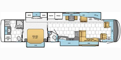Find Specs for 2014 Newmar - Mountain Aire <br>Floorplan: 4361 (Class A)