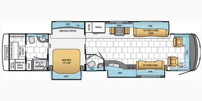 Find Specs for 2014 Newmar - Mountain Aire <br>Floorplan: 4364 (Class A)
