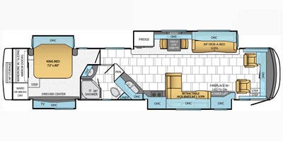 Find Specs for 2014 Newmar - Mountain Aire <br>Floorplan: 4372 (Class A)