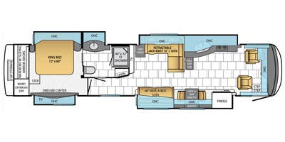 Find Specs for 2014 Newmar - Mountain Aire <br>Floorplan: 4374 (Class A)
