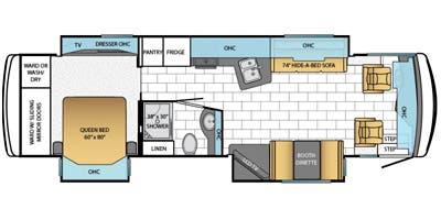 Find Specs for 2014 Newmar - Ventana <br>Floorplan: 3436 (Class A)