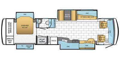 Find Specs for 2014 Newmar - Ventana <br>Floorplan: 3634 (Class A)