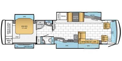 Find Specs for 2014 Newmar - Ventana <br>Floorplan: 4036 (Class A)