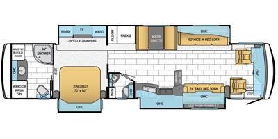 Find Specs for 2014 Newmar - Ventana <br>Floorplan: 4037 (Class A)