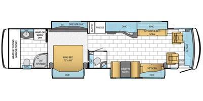 Find Specs for 2014 Newmar - Ventana <br>Floorplan: 4039 (Class A)