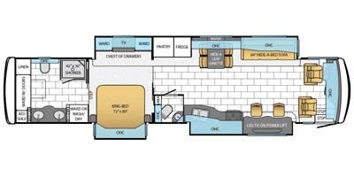 Find Specs for 2014 Newmar - Ventana <br>Floorplan: 4369 (Class A)