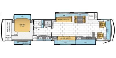 Find Specs for 2014 Newmar - Ventana <br>Floorplan: 4377 (Class A)