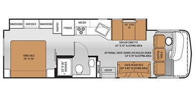 Find Specs for 2015 Thor Motor Coach - Hurricane <br>Floorplan: 32N (Class A)