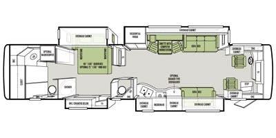 Find Specs for 2014 Tiffin - Allegro Bus <br>Floorplan: 40 QBP (Class A)