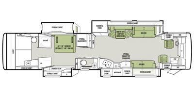 Find Specs for 2014 Tiffin - Allegro Bus <br>Floorplan: 43 QGP (Class A)