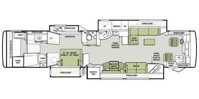Find Specs for 2014 Tiffin - Allegro Bus <br>Floorplan: 45 LP (Class A)