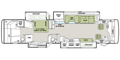 Find Specs for 2014 Tiffin - Phaeton <br>Floorplan: 40 QBH (Class A)