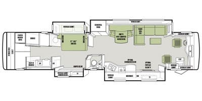 Find Specs for 2014 Tiffin - Zephyr <br>Floorplan: 45 LZ (Class A)