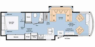 Find Specs for 2015 Itasca - Solei <br>Floorplan: 34T (Class A)