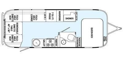 Find Specs for 2015 Airstream - Eddie Bauer <br>Floorplan: 25FB (Toy Hauler)