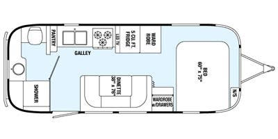 Find Specs for 2015 Airstream - International Serenity <br>Floorplan: 23FB (Travel Trailer)