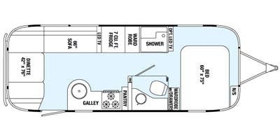 Find Specs for 2015 Airstream - Flying Cloud <br>Floorplan: 25FB (Travel Trailer)