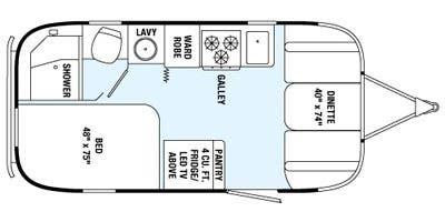 Find Specs for 2015 Airstream - International Serenity <br>Floorplan: 19 (Travel Trailer)