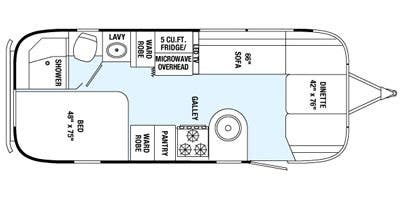 Find Specs for 2015 Airstream - International Serenity <br>Floorplan: 23D (Travel Trailer)