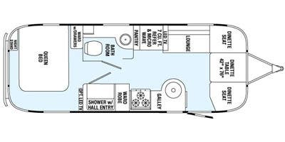 Find Specs for 2015 Airstream - International Serenity <br>Floorplan: 25 (Travel Trailer)