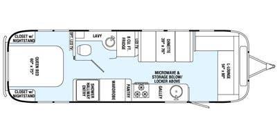 Find Specs for 2015 Airstream - International Serenity <br>Floorplan: 30 (Travel Trailer)