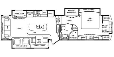 Specs for 2015 fifth wheel drv mobile suites rvs for Rv suites floor plan
