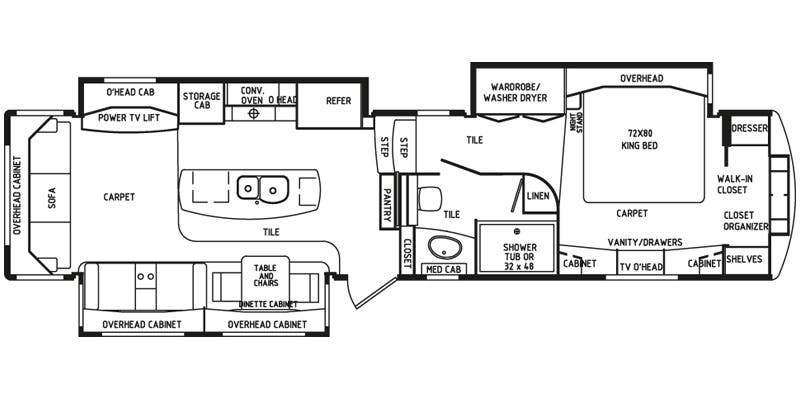 Full specs for 2015 drv mobile suites 38rsb3 rvs for Rv suites floor plan