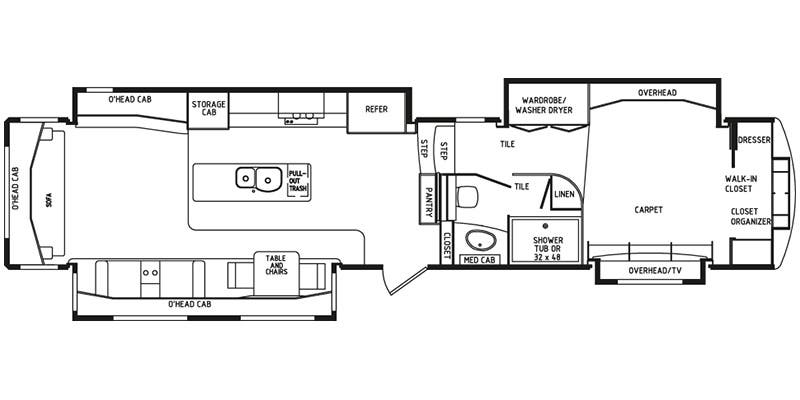 Specs for 2016 drv elite suites rvs for Rv suites floor plan