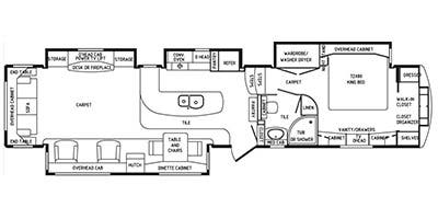 Specs for 2015 fifth wheel drv mobile suites rvs for Rv suites floor plan