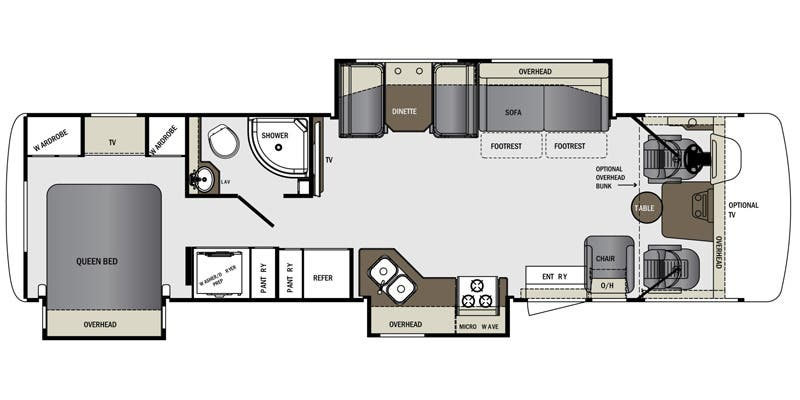 Find Specs for 2016 Forest River - Georgetown <br>Floorplan: 328TS (Class A)