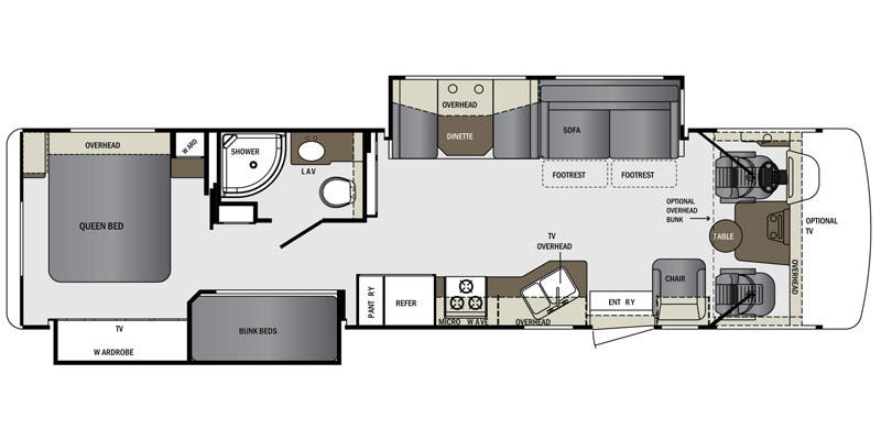Find Specs for 2016 Forest River - Georgetown <br>Floorplan: 351DS (Class A)