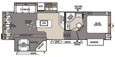 Find Specs for 2015 Forest River - Rockwood Signature Ultra Lite <br>Floorplan: 8289WS (Fifth Wheel)