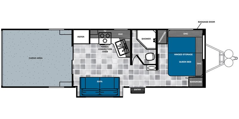 Find Specs for 2015 Forest River - Work and Play Floorplan: 275ULSBS (Toy Hauler)