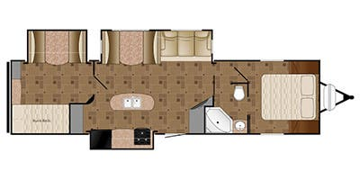 Find Specs for 2016 Heartland - Prowler <br>Floorplan: 33P BHS (Travel Trailer)