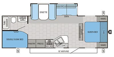 Find Specs for 2015 Jayco - Jay Flight <br>Floorplan: 26BHS (Travel Trailer)