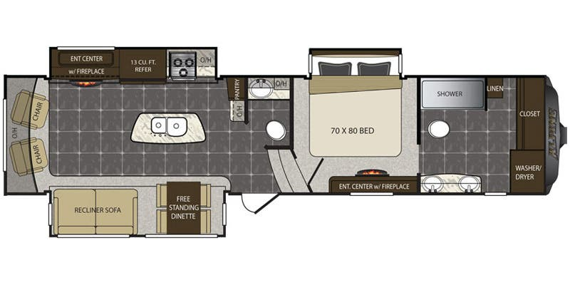 Full Specs For 2015 Keystone Alpine 3730FB RVs