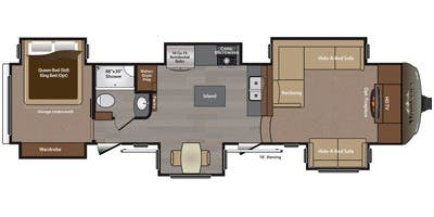 Find Specs for 2016 Keystone - Montana <br>Floorplan: 3711FL (Fifth Wheel