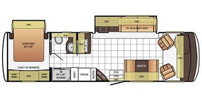 Find Specs for 2015 Newmar - Bay Star Sport <br>Floorplan: 3220 (Class A)
