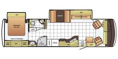 Find Specs for 2015 Newmar - Bay Star Sport <br>Floorplan: 3309 (Class A)