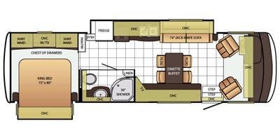 Find Specs for 2015 Newmar - Bay Star <br>Floorplan: 3103 (Class A)